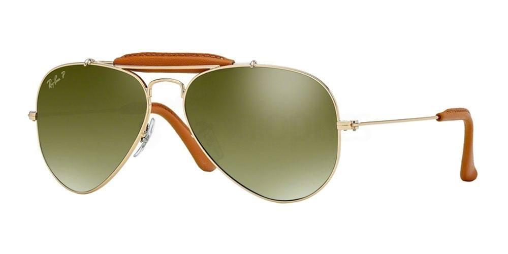 001/M9 RB3422Q Outdoorsman (Standard) Sunglasses, Ray-Ban