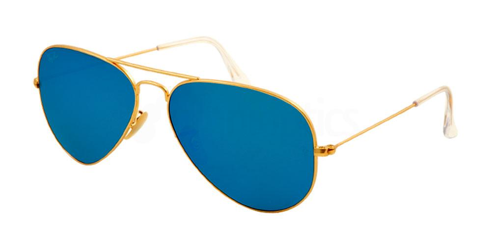 112/17 RB3025 - Aviator - Large Metal - Flash Lenses , Ray-Ban