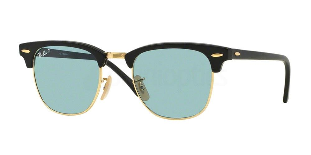 901S3R RB3016 - Clubmaster (HRG) (Polarized) Sunglasses, Ray-Ban