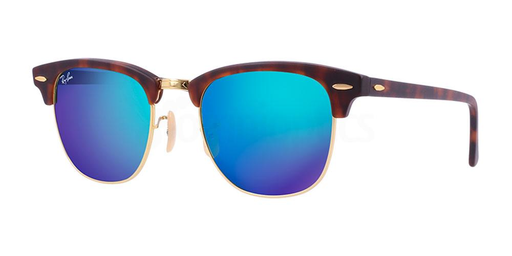 114517 RB3016 - Clubmaster - Flash Lenses Sunglasses, Ray-Ban