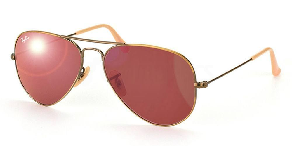 167/2K RB3025 - Aviator - Large Metal - Flash Lenses , Ray-Ban