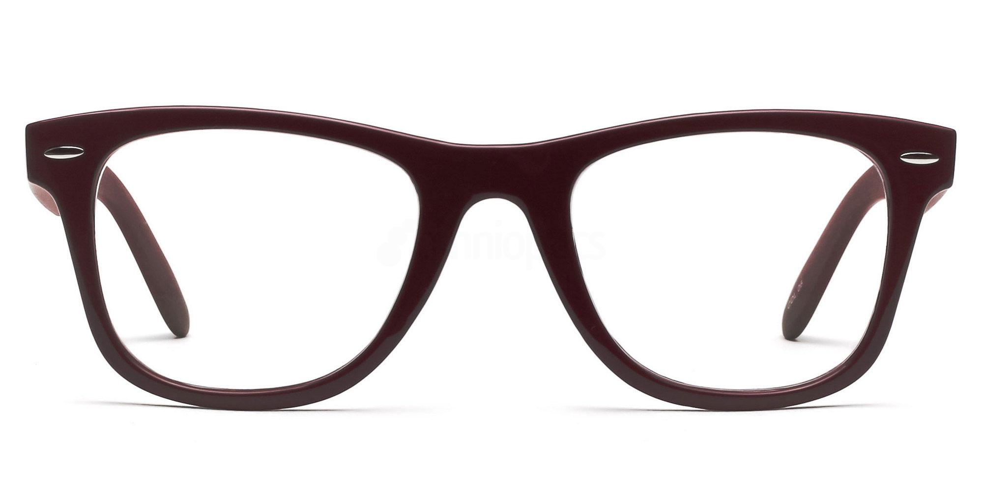 Dark Red P2429 - Red (with wood effect) Glasses, Savannah