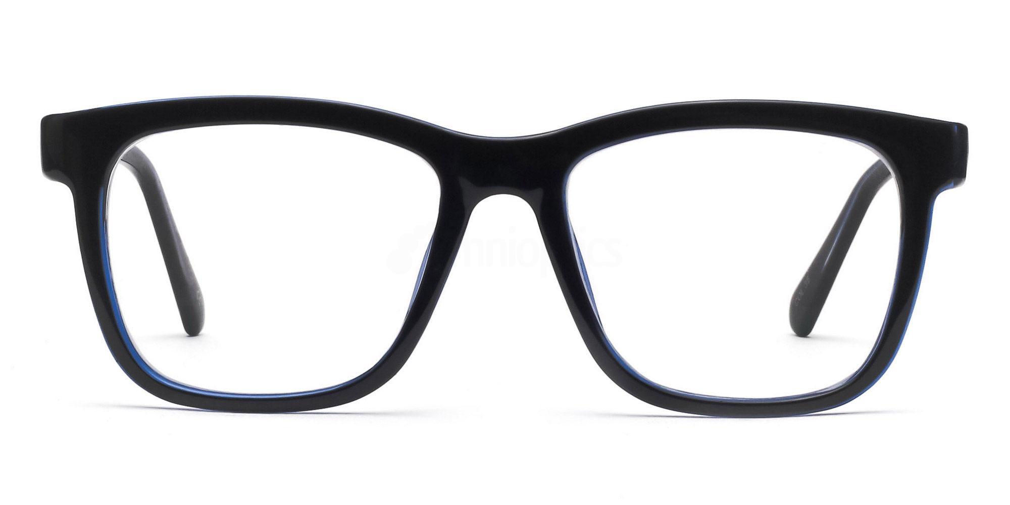 COL.35 2444 - Black and Blue Glasses, Savannah