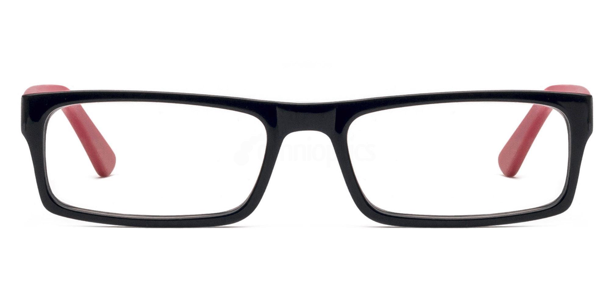 Black and Red 2087 Glasses, Savannah
