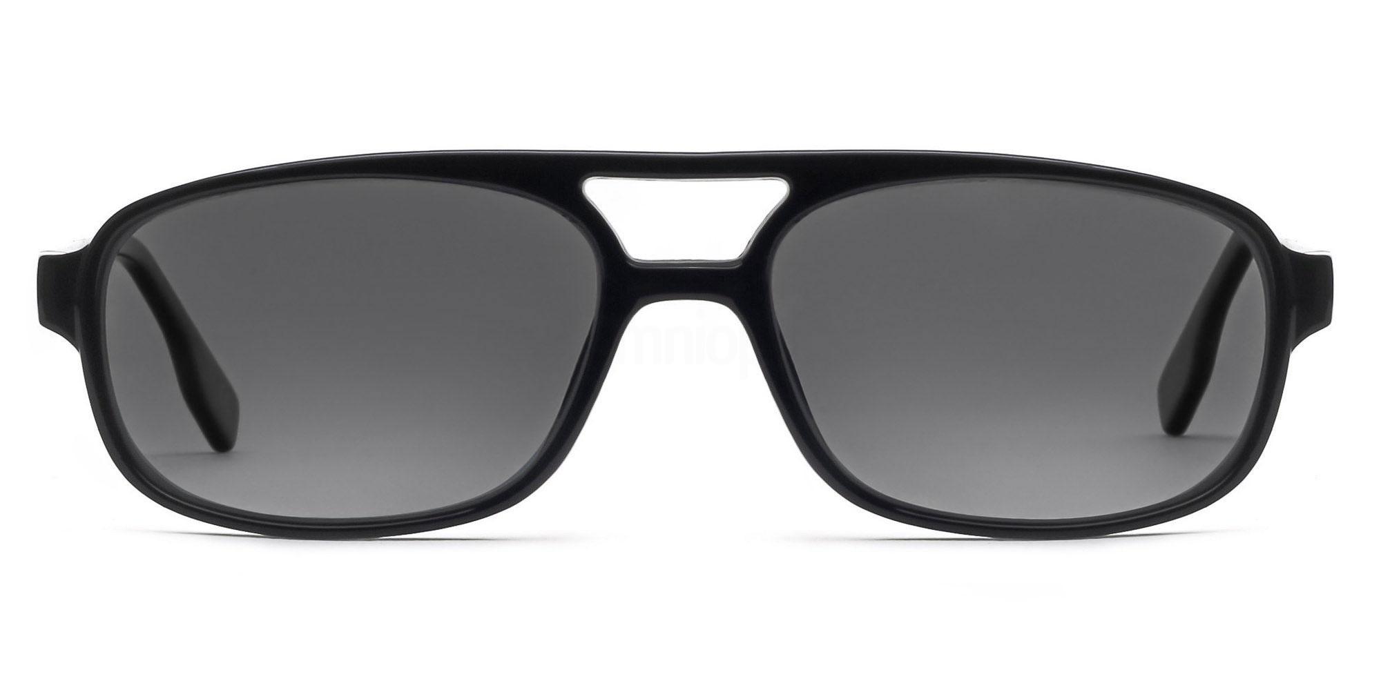C01 Polarized Grey P2395 - Black (Polarized) Sunglasses, Savannah