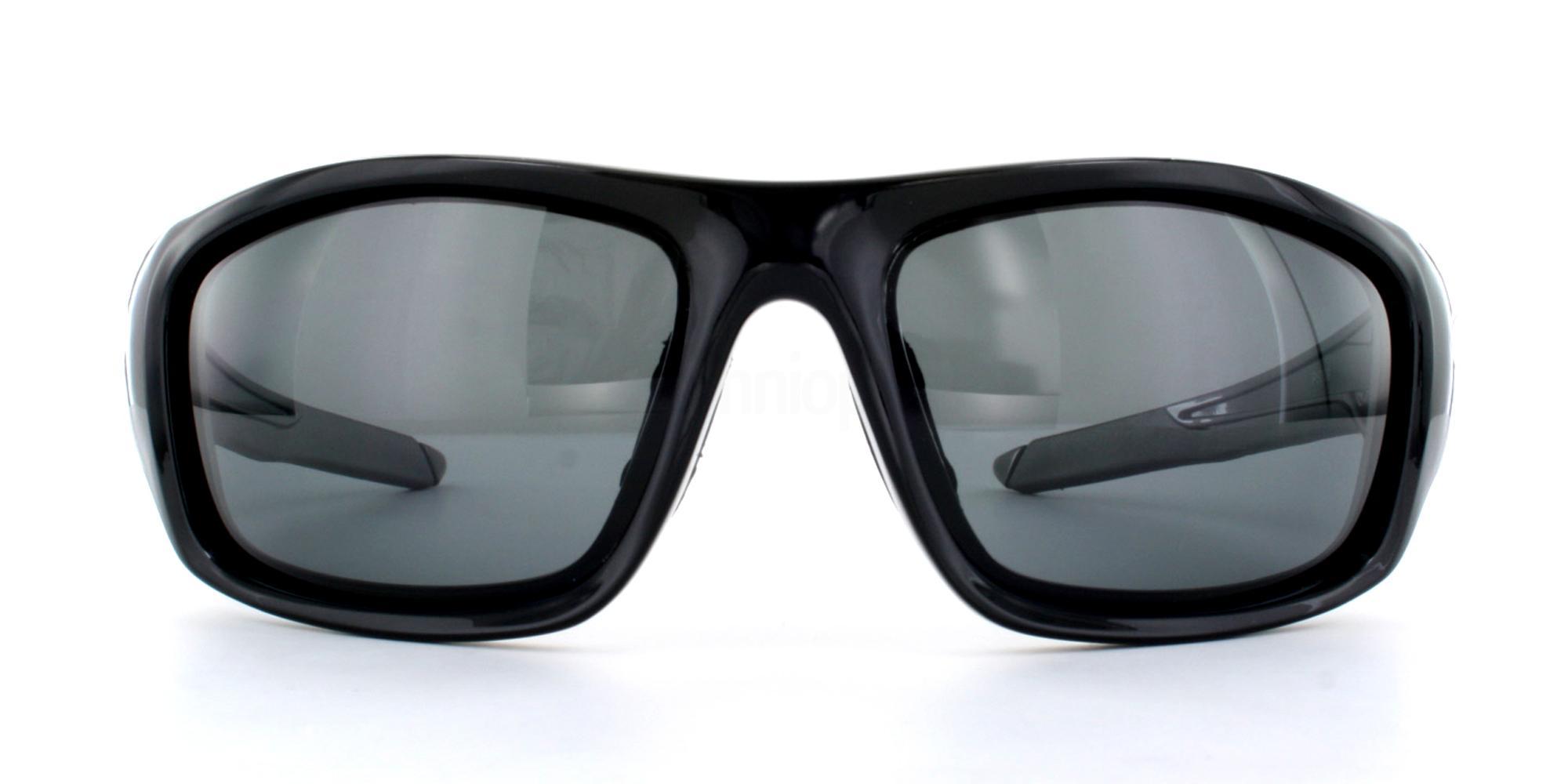 Shiny Black + Grey Lens P5009 Sunglasses, Aero