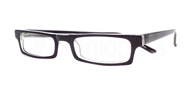 Black and Crystal 871 Glasses, Booth & Bruce Design