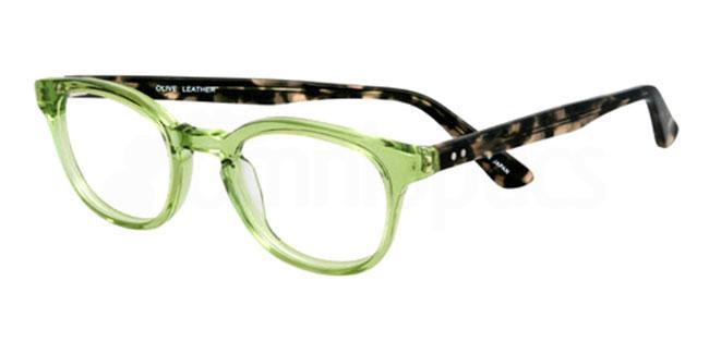 olive leather 910 Glasses, Booth & Bruce Design