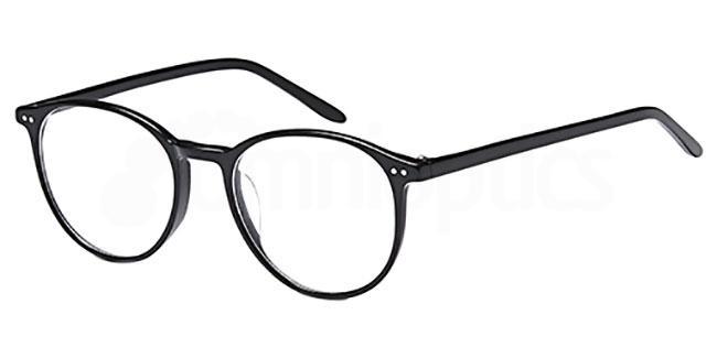Black D133 Glasses, Brooklyn