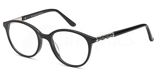 Black DEL118 Glasses, Delancy