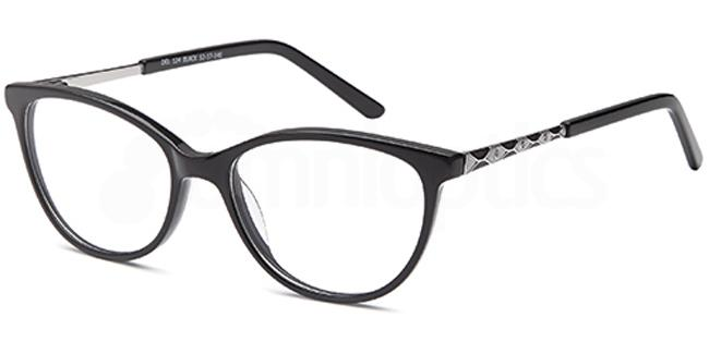 Black DEL124 Glasses, Delancy