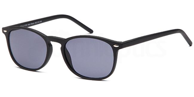 Matt Black W38 Sunglasses, Solo Collection