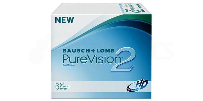 3 Lenses Pure Vision 2 HD Lenses, Bausch & Lomb