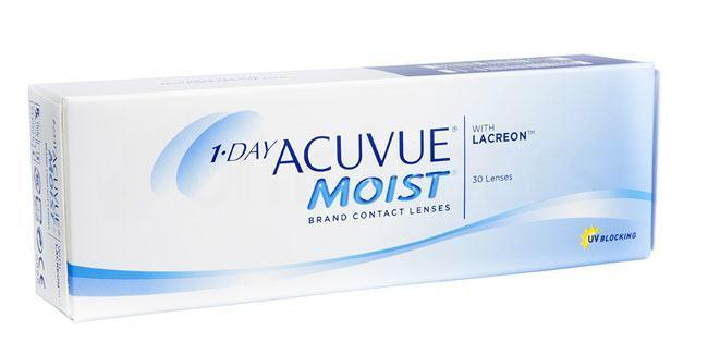 30 Lenses 1 Day Acuvue Moist Lenses, Johnson & Johnson