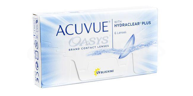 6 Lenses Acuvue Oasys with Hydraclear Plus Lenses, Johnson & Johnson