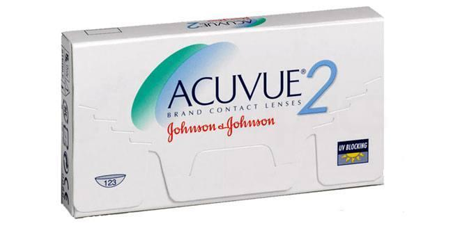 6 Lenses Acuvue 2 Lenses, Johnson & Johnson