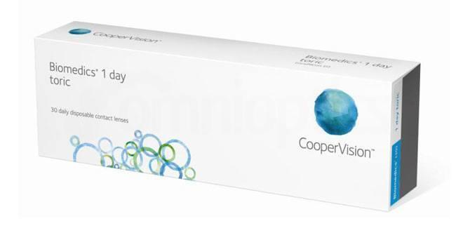 30 Lenses Biomedics 1 Day Extra Toric Lenses, CooperVision