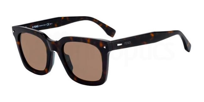 086  (70) FF 0216/S Sunglasses, Fendi