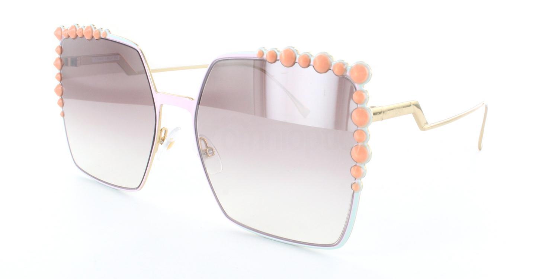 35J (NQ) FF 0259/S Sunglasses, Fendi