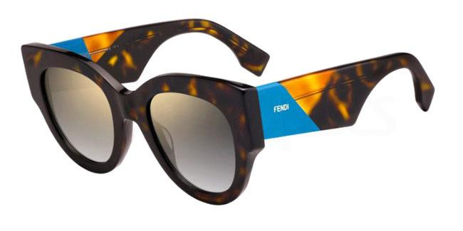 086 (FQ) FF 0264/S Sunglasses, Fendi