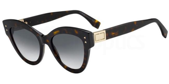086  (9O) FF 0266/S Sunglasses, Fendi