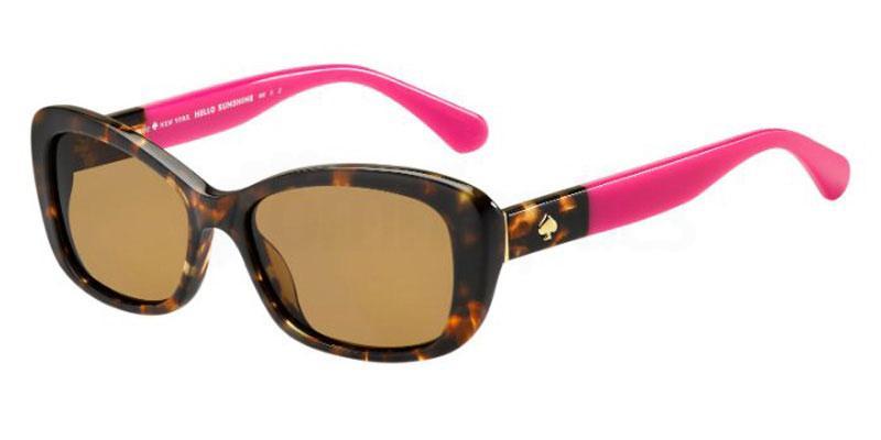 0T4 (SP) CLARETTA/P/S Sunglasses, Kate Spade