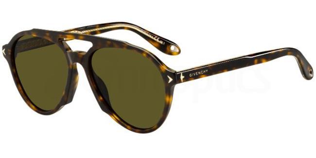 086  (70) GV 7076/S Sunglasses, Givenchy