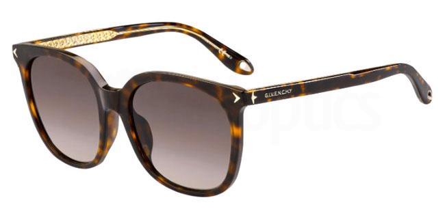 086 (3X) GV 7085/F/S Sunglasses, Givenchy
