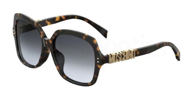 086 (9O) MOS014/F/S Sunglasses, Moschino