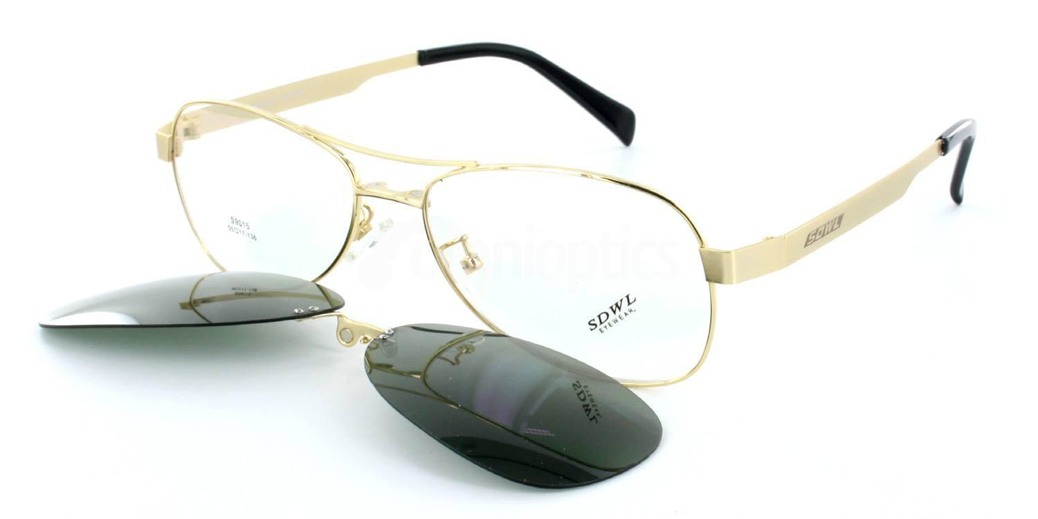 Gold S9015 - with Magnetic, Polarised, Sunglasses Clip-on , Infinity