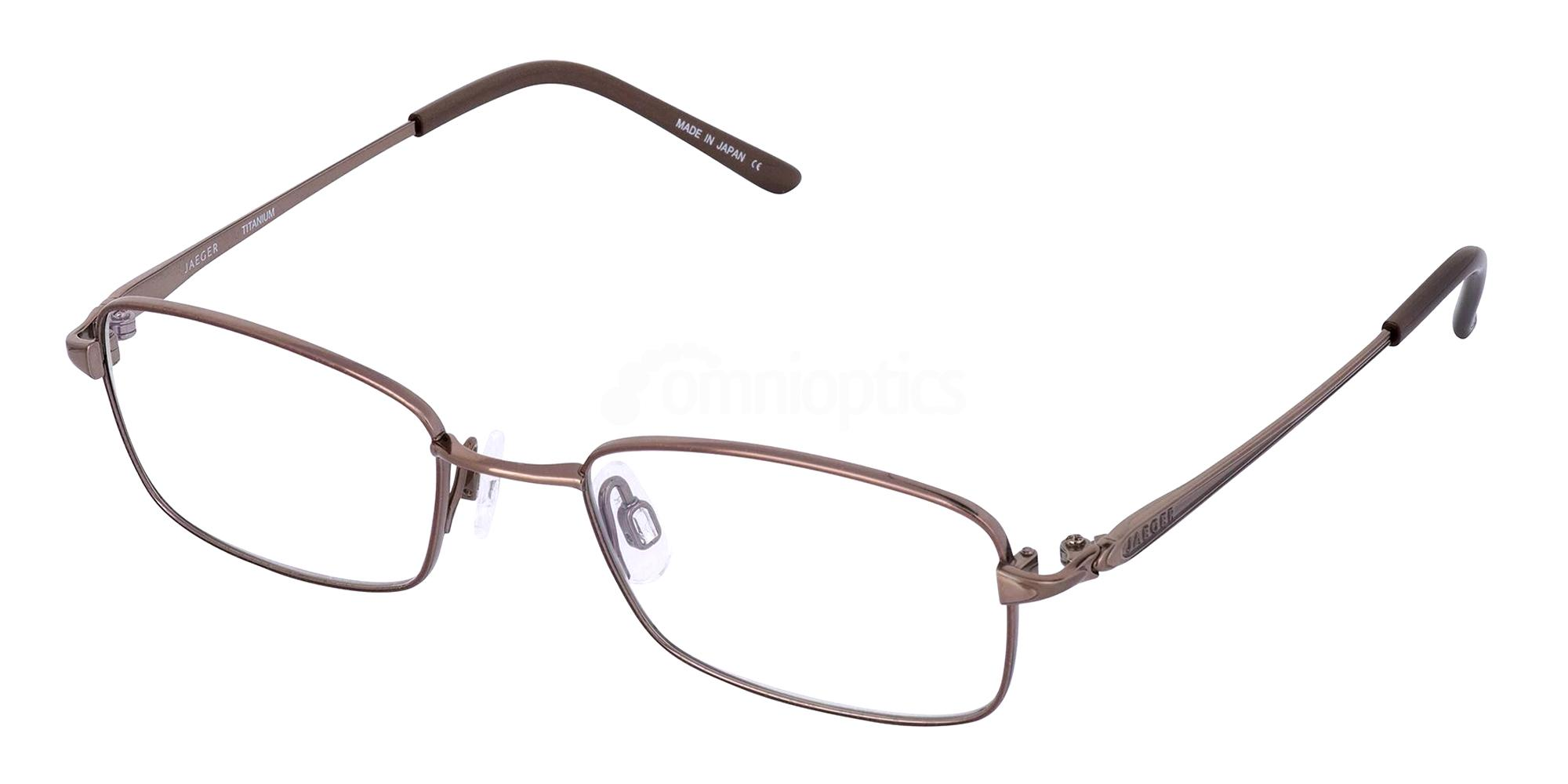 Brown 311 Glasses, Jaeger Pure Titanium