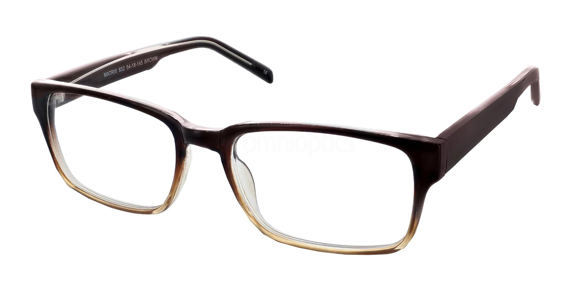 Brown 832 Glasses, Matrix