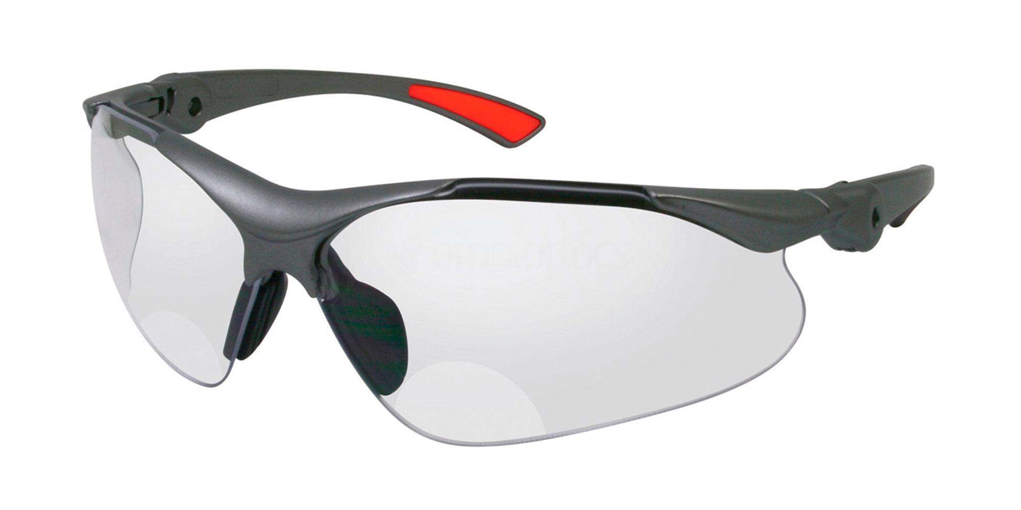 +1.50 Power Silver Grey/Orange SJ1203 Accessories, Sports Eyewear