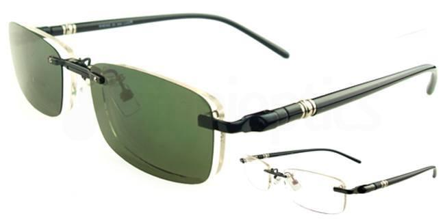 Black S9091 With Magnetic Polarized Sunglasses Clip-on Glasses, Vista