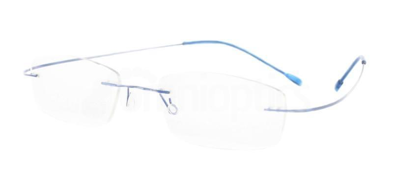 Blue M208 Glasses, Vista