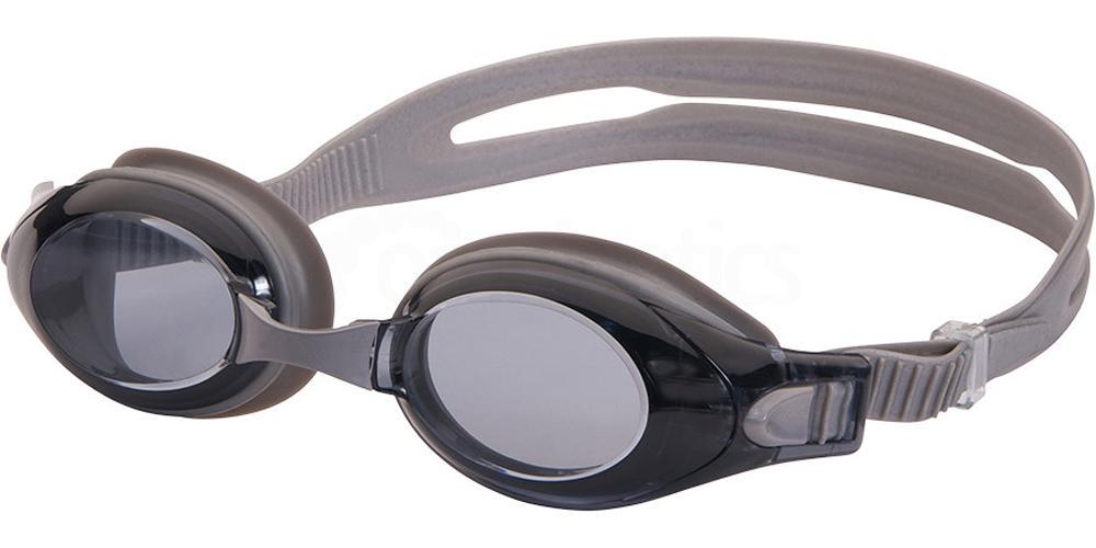 338010100 Ready-to-Wear Rx Swim Goggles Velocity Smoke Accessories, LEADER