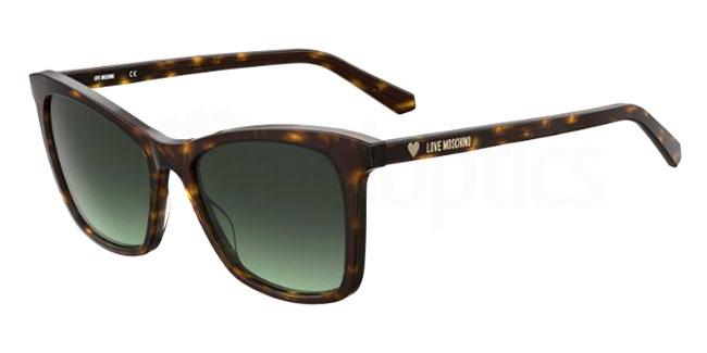 086 (IB) MOL020/S Sunglasses, Love Moschino