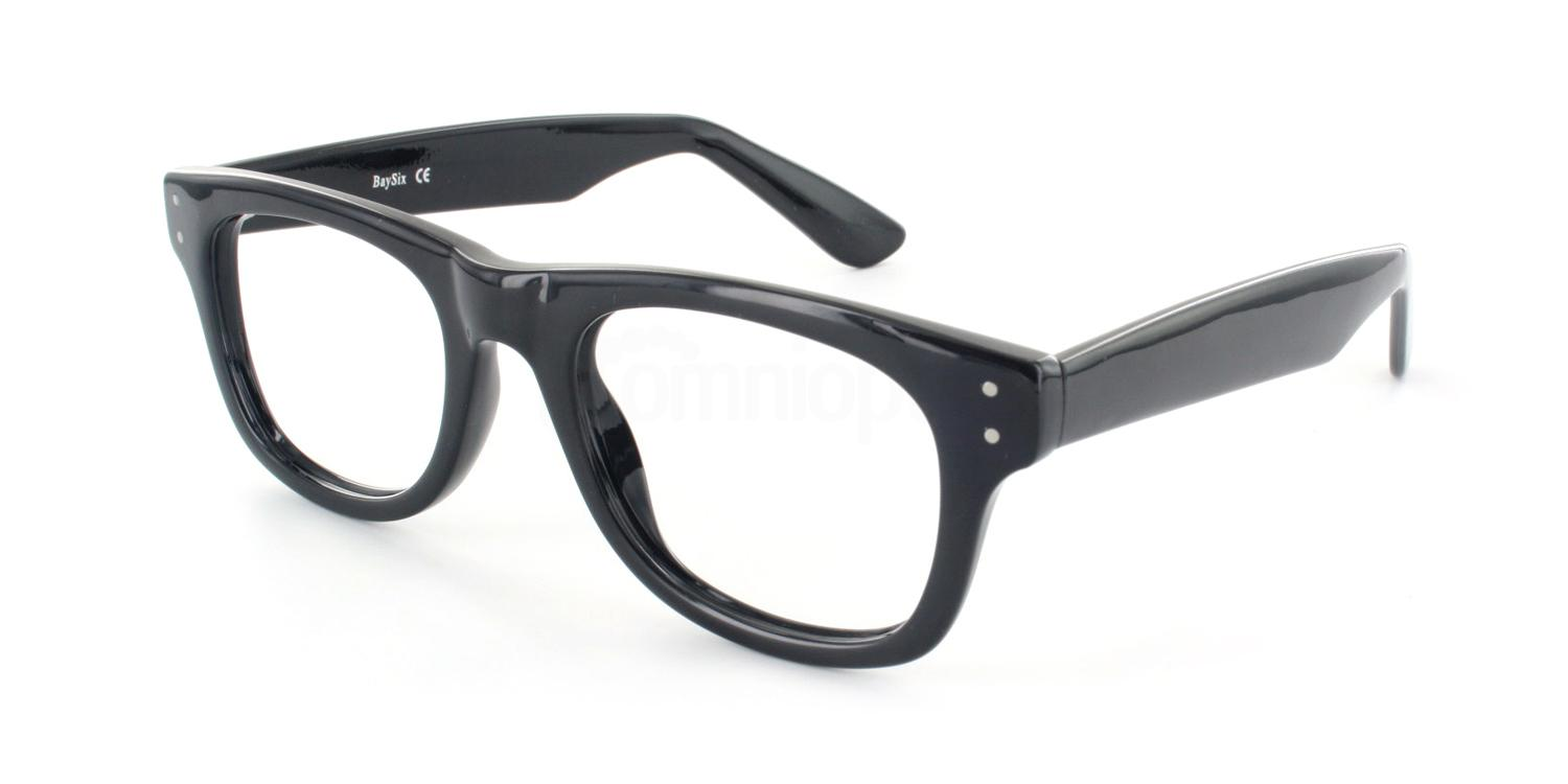 Black 16TH BASE Glasses, Look Designs