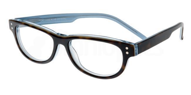 Tortoise Blue Crystal P019 Glasses, Booth & Bruce Design