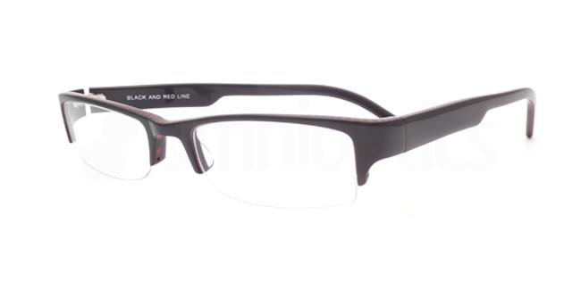 Black and Red Line po03 Glasses, Booth & Bruce Design