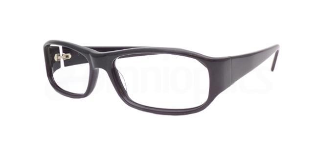 Black Po12 Glasses, Booth & Bruce Design