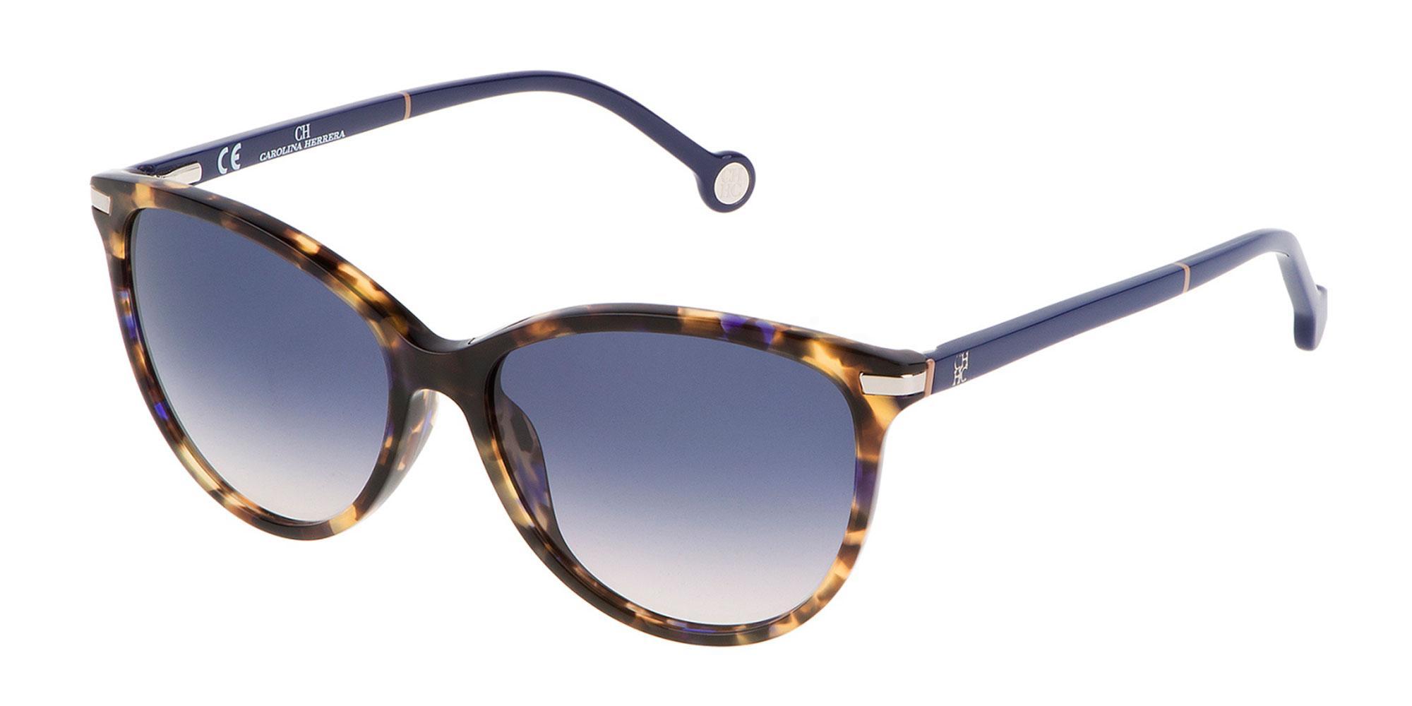 0744 SHE651V Sunglasses, CH Carolina Herrera