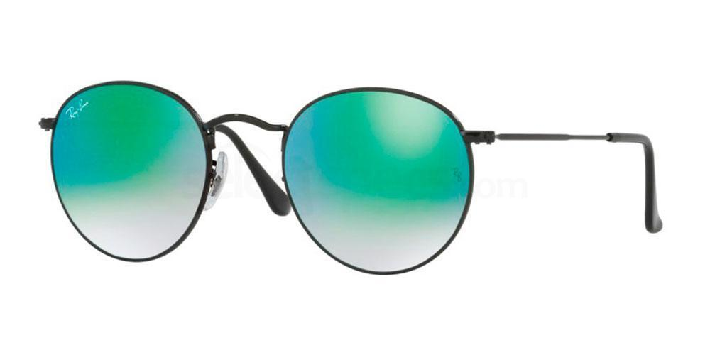 002/4J RB3447 Round Metal (1/2) Sunglasses, Ray-Ban