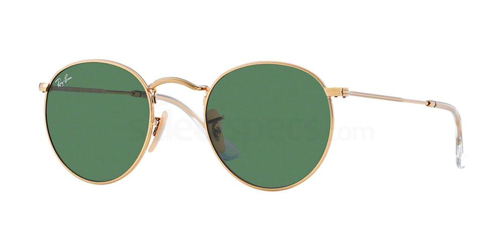 001 RB3447 Round Metal (1/2) Sunglasses, Ray-Ban