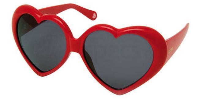 Moschino heart shaped sunglasses
