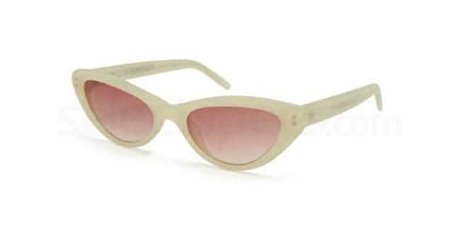Moschino cat-eye white sunglasses