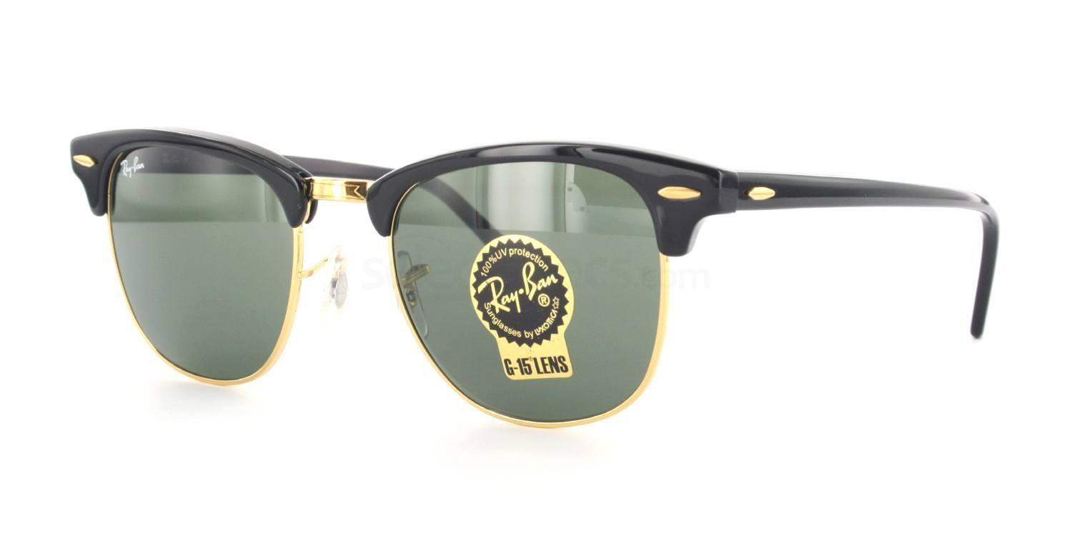 rb3016  Ray-Ban RB3016 - Clubmaster (HRG) (1/3) sunglasses
