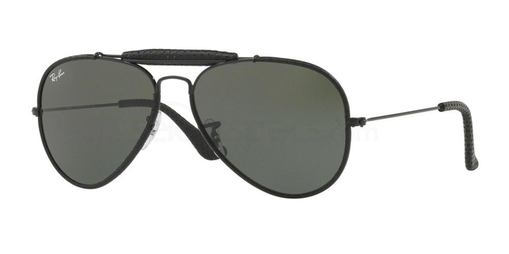 9040 RB3422Q Outdoorsman (Standard) Sunglasses, Ray-Ban