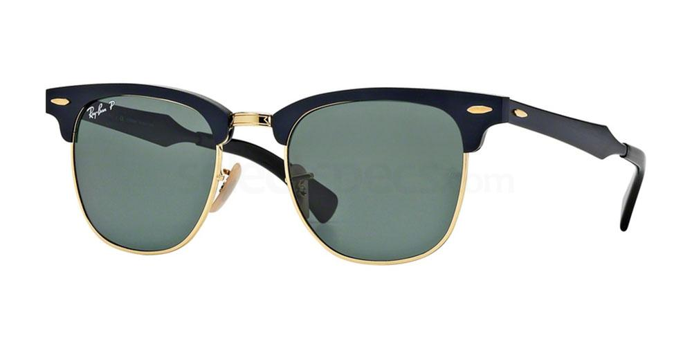 136/N5 RB3507 CLUBMASTER ALUMINIUM Sunglasses, Ray-Ban