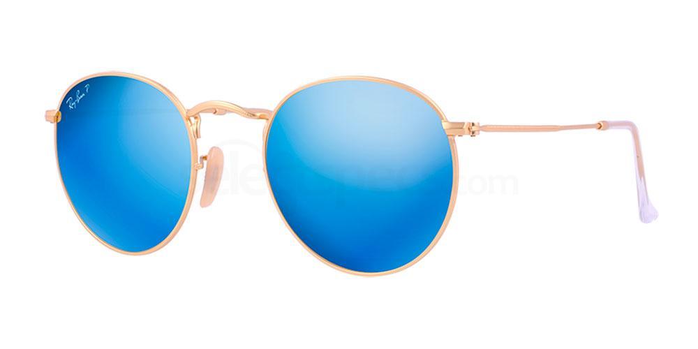 112/4L RB3447 Round Metal (Polar) Sunglasses, Ray-Ban